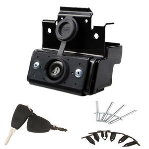 Black Hood Lock W keys Anti theft Kit Assembly For Jeep Wrangler Jk