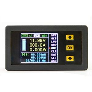 Multi Testers Dc 0 120v 0 30a Lcd Display Digital Current Voltage Watt Capacity
