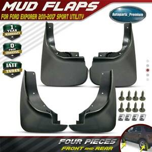 4pcs Front And Rear Splash Guard Mud Flaps Mudflap For Ford Explorer 2011 2017