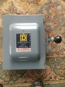 Square D 60 Amp 240 Vac dc Double Throw Safety Switch 2p 82252 Repl By Dtu222