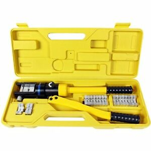 Crimpers 16 Ton Hydraulic Wire Battery Cable Lug Terminal Crimper Crimping Tool
