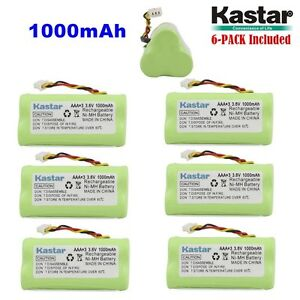 6 X Kastar Motorola Symbol Ls 4278 Ds 6878 Replacement Battery 1000mah Aaa 3 6v