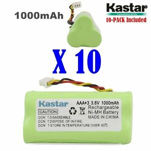 10 X Kastar Motorola Symbol Ls 4278 Ds 6878 Replacement Battery 1000mah Aaa 3 6v