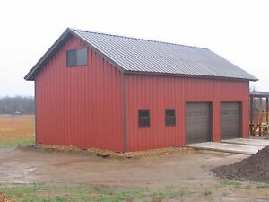 30 x30 x10 Steel Garage workshop Building Kit Excel Metal Building Systems Inc