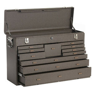 Kennedy 52611b 11 Drawer Professional 26 Machinist s Chest Brown Wrinkle Steel