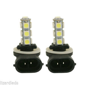 2x 881 Led Replacement White Fog Light Bulbs 12v Bright Replaces 886 889 894 896