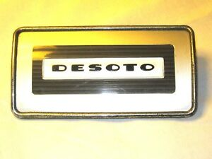 Desoto Automobile Radio Dash Board Cover Emblem