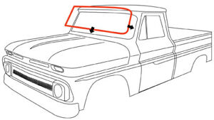 64 66 Chevy gmc Truck Windshield Gasket Weatherstrip Seal W out Trim Groove