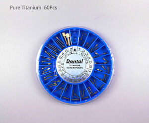 2boxes Dental Oral Assorted Conical Titanium Screw Posts 120 Posts box