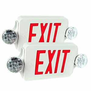 Lighted Exit Signs Etoplighting Packs Of Led Red Emergency Light Combo With Etl