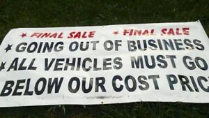 Going Out Of Business Sign Banner Great Condition
