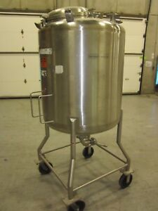 250 Gallon Cherry Burrell Stainless Steel Process Tank Pressure Rated