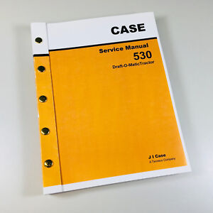 Case 530 Draft o matic Tractor Service Repair Manual Technical Shop Book Ovhl
