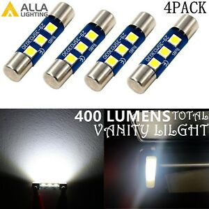 Alla Lighting 4x White Led Sun Visor Vanity Mirror Light Bulbs Lamps 6612f 6614f