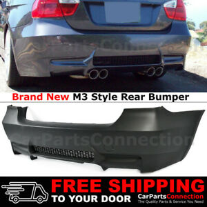 For 09 11 Bmw E90 3 Series Rear M3 Style Dual Exhaust Outlet Bumper Without Pdc