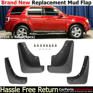 Front Rear Mud Flaps Splash Guards For 2008 2012 Ford Escape Mudguards