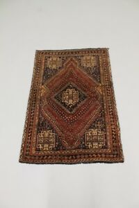 Tribal Hand Knotted Handmade Qashqai Persian Wool Rug Oriental Area Carpet 4x6