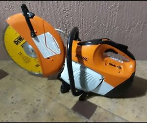 Stihl Ts420 Gas Concrete Cut off Saw W New Dewalt 14 Diamond Disk
