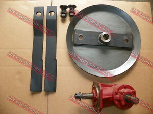4 Rotary Cutter Kit Gear Box 1 1 466 Ratio Hd Blade Pan Blades And Blade Bolts