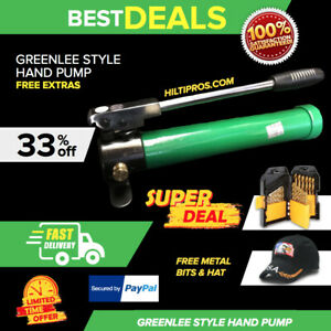 Greenlee 767 Hydraulic Style Hand Pump New Free Hat Metal Bits Fast Ship