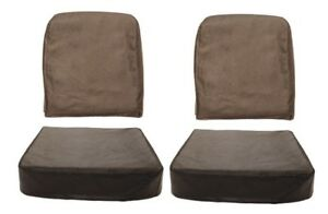 Pair Of Black Seat Covers Fits Willys Jeep Cj2a 45 49