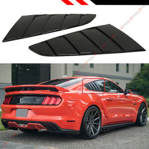 For 2015 18 Ford Mustang Glossy Black Side Vent Window 1 4 Quarter Scoop Louver