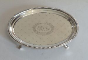 19th C Sterling Silver Teapot Stand J E Caldwell Co