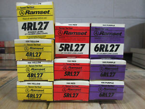 Ramset 4rl27 Yellow 5rl27 Red 6rl27 Purple 27 Caliber Single Shot Long Loads