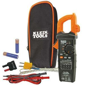 Digital Clamp Meter With Temp 600 Amp Ac True Rms Auto ranging Electrical Tester