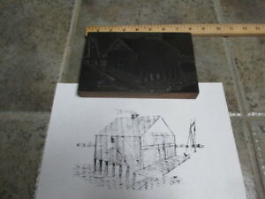 City Of Detroit Antique Letterpress Print Block Prouty Grocer Freeschool