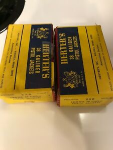 BULLET JACKETS FOR SWAGING Herter's 2 Full Boxes 38 Caliber500 Pieces Total