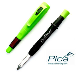 Pica Big Dry Longlife Marker Pencil Construction Refills With Free Clip