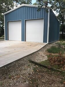 24 x36 x10 Steel Garage workshop Building Kit Excel Metal Building Systems Inc