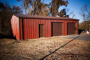 25 x25 x10 Steel Garage workshop Building Kit Excel Metal Building Systems Inc