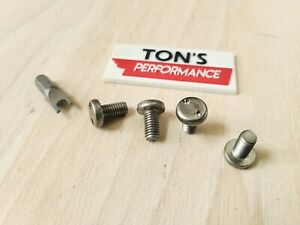 Audi Security Anti Theft Luxury Auto License Plate Screws Stainless Snake Bolts