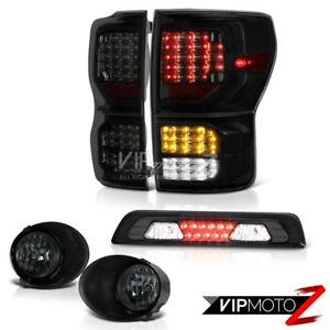 07 13 Toyota Tundra Limited Smoke Tinted Tail Lamps Fog Third Brake Light Led
