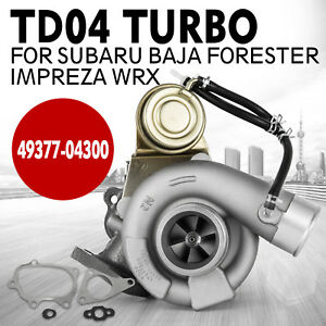 Set For Subaru Forester 49377 04300 14412aa451 Td04l 13t Turbo Charger Great