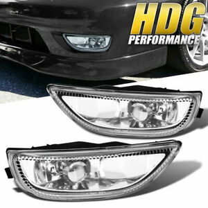 2001 2002 Toyota Corolla Ce Le S Clear Lens Bumper Driving Fog Lights Lamps Pair