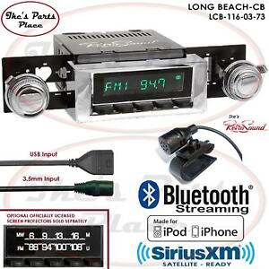 Retrosound Long Beach Cb Radio Bluetooth Usb 3 5mm Aux In 116 03 Chevy C Series