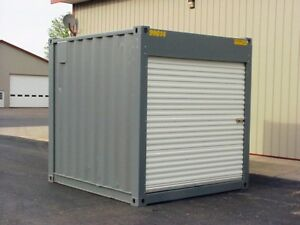 10 Shipping Container Storage Unit Steel Roll Door Custom Cargo Conex Ship Avai