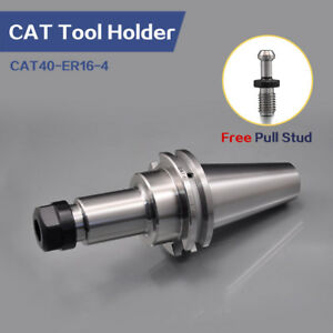 4 Pieces Cat40 Er16 Collet Chuck Tool Holder Er16 Cnc Milling Lathe Sfx Brand