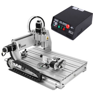 Usb 4 Axis Cnc 6040z Router Machine Engraver Engraving Drilling Milling Machine