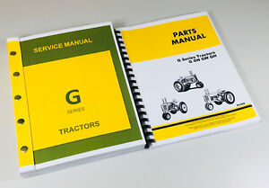 Service Manual Parts Catalog For John Deere G Gn Gw Gh Tractor Shop Book Repair