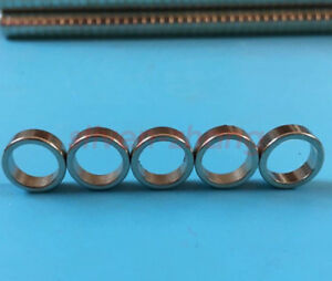 5 100pcs Strong 12 X 4 Mm N48 Ring Disc Magnets Rare Earth Neodymium Hole 9 Mm