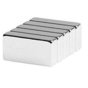 Lot 5 10 50 Super Block Magnets 1 x1 2 x1 4 Inch Rare Earth Neodymium N52