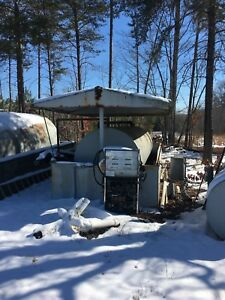 above Ground 3 000 Gallon Diesel Fuel Storage Tank W Containment And Enclosure