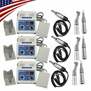 3sets Dental Lab Marathon Electric Micro Motor Straight Contra Handpiece Us Ship