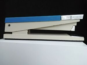 Vintage Acco 20 Stapler Blue Beige And Silver mid Century Modern Made In The Usa