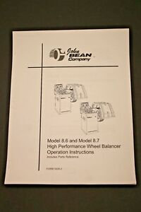 Fmc John Bean 8 6 8 7 High Performance Wheel Balancer Operating Manual