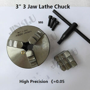 3 3 Jaw Lathe Chuck 80mm Self Centering M6 Mount For Harbor Freight 7x10 Lathe